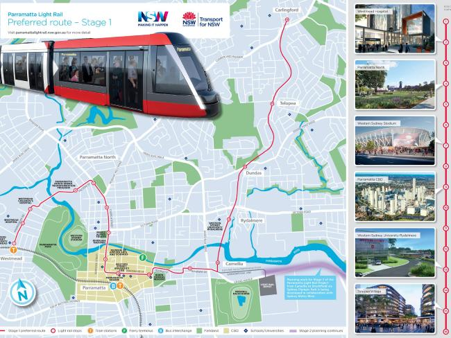 State Government announces light rail between Westmead, Parramatta and Carlingford
